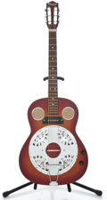 Musical Instruments:Resonator Guitars, 1970's Conrad Electric Cherryburst Resonator Guitar...