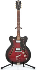 Musical Instruments:Electric Guitars, 1960's Hofner Thin Red Burst Semi-Hollow Body Electric Guitar#36141...