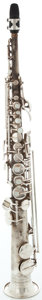 Musical Instruments:Horns & Wind Instruments, 1900's Conn Silver Soprano Saxophone #M217725...