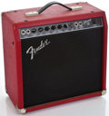 Musical Instruments:Amplifiers, PA, & Effects, 1980's Fender Champ 12 Red Guitar Amplifier #L066188...