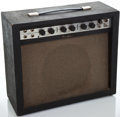 Musical Instruments:Amplifiers, PA, & Effects, 1960's Airline 62-9013A Black Guitar Amplifier ...