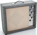 Musical Instruments:Amplifiers, PA, & Effects, 1960's Silvertone 1482 Gray Guitar Amplifier ...