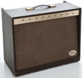 Musical Instruments:Amplifiers, PA, & Effects, 1960's Magnatone Custom 410 Brown Guitar Amplifier ...