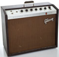Musical Instruments:Amplifiers, PA, & Effects, 1960's Gibson Discoverer GA-8T Brown Guitar Amplifier #431359...