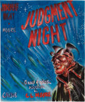 Art:Illustration Art - Pulp, FRANK KELLY FREAS (American, 1922-2005). Judgment Night,preliminary paperback cover, 1965. Tempera and gouache onpaper...
