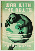 Books:Science Fiction & Fantasy, Karl Capek. War With the Newts. London: George Allen andUnwin Ltd., [1937]. First British edition. Octavo. 348,...