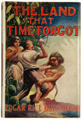 Books:Science Fiction & Fantasy, Edgar Rice Burroughs. The Land That Time Forgot. London:Methuen & Co. Ltd., [1925]. First British edition. Octa...