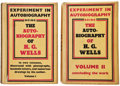Books:Science Fiction & Fantasy, H. G. Wells. Experiment in Autobiography. Discoveries and Conclusions of a Very Ordinary Brain (Since 1866). Lon...