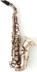 Musical Instruments:Horns & Wind Instruments, 1900's Conn Silver Soprano Saxophone #64240...