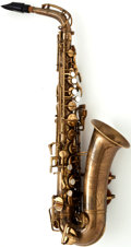 Musical Instruments:Horns & Wind Instruments, 1952 Buescher Aristocrat Brass Alto Saxophone #342411...