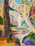 American:Modern, E. E. CUMMINGS (American, 1894-1962). The Waterfall, 1944.Oil on canvas. 24 x 18 inches (61.0 x 45.7 cm). Signed and da...
