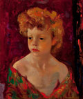 Paintings, LUIGI CORBELLINI (Italian, 1901-2001). Young Child with Red Hair, circa 1960-70. Oil on linen. 18 x 15 inches (45.7 x 38...