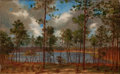Fine Art - Painting, American:Antique  (Pre 1900), JOHN BRADLEY HUDSON (American, 1832-1903). View from theWoods, 1882. Oil on canvas. 13 x 21 inches (33.0 x 53.3 cm).Si...