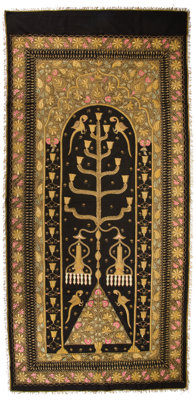 INDIAN EMBROIDERED PANEL 20th century 106 x 50 inches (269.2 x 127 cm)