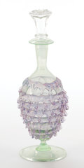Art Glass:Other , MURANO TRAILED AND PRUNTED GLASS VASE ATTRIBUTED TO SALVIATI .Circa 1900. 7-1/2 inches high (19.1 cm). ...