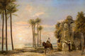 Fine Art - Painting, European:Antique  (Pre 1900), THE PROPERTY OF A SOUTH TEXAS ESTATE. J.C. FRISCH (German, 19thCentury). Moorish Figures on Horseback, 1871. Oil on c...
