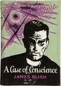 Books:First Editions, James Blish. A Case of Conscience. London: Faber and Faber,[1959]. First hardcover edition. Octavo. 208 pages. Blue...