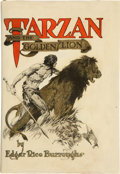 Books:First Editions, Edgar Rice Burroughs. Tarzan and the Golden Lion. Chicago:McClurg, 1923. First edition. Octavo. 333 pages. Eight il...