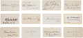 Autographs:Statesmen, Lot of 12 Late Nineteenth and Early Twentieth Century AmericanStatesmen's Signatures.... (Total: 12 Items)