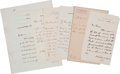 Autographs:Statesmen, [James Garfield] Six Letters by Garfield's Cabinet, Circa 1881....(Total: 6 Items)