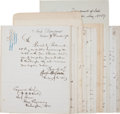 Autographs:U.S. Presidents, [Ulysses S. Grant] Letters and Documents Signed by Members ofGrant's Cabinet,... (Total: 13 Items)