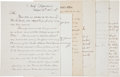 Autographs:U.S. Presidents, [Andrew Johnson] Cabinet Members' Letters Signed (4),... (Total: 6Items)