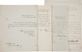 Autographs:U.S. Presidents, [Martin Van Buren] Cabinet Members' Letters (4) Signed.... (Total:4 Items)