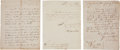 Autographs:U.S. Presidents, [James Monroe] Cabinet Members' Letters Signed (3).... (Total: 3Items)
