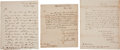 Autographs:U.S. Presidents, [James Madison] Cabinet Members' Letters Signed (3).... (Total: 3Items)