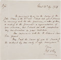 Autographs:Statesmen, Henry Clay Autograph Letter Signed....
