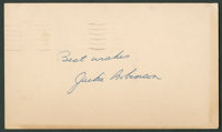 1956 Jackie Robinson Signed Government Postcard