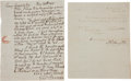 Autographs:Statesmen, [Thomas Jefferson] Two Letters from Members of Jefferson'sCabinet.... (Total: 2 Items)