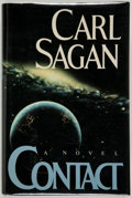 Books:Signed Editions, Carl Sagan. Contact. New York: Simon and Schuster, [1985].First edition. Signed by the author. Publisher's bind...