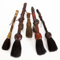 Other, GROUP OF FIVE ASIAN BRUSHES . 21-1/2 inches long (54.6 cm) (largest). ... (Total: 5 Items)