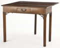 Furniture , From the Estate of Henry Hathaway, Film Director, Beverly Hills, California . GEORGE III STYLE SINGLE DRAWER GAME TABLE ...