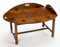 From the Estate of Henry Hathaway, Film Director, Beverly Hills, California  GEORGE III STYLE MAHOGANY BUTLE