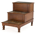 Furniture : English, FROM THE ESTATE OF HENRY HATHAWAY, FILM DIRECTOR, BEVERLY HILLS, CALIFORNIA . WILLIAM IV MAHOGANY BEDSIDE STEPS WITH CONCEAL...