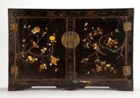 From the Estate of Henry Hathaway, Film Director, Beverly Hills, California  CHINESE LACQUERED INLAID HARDST