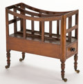 Furniture , From the Estate of Henry Hathaway, Film Director, Beverly Hills, California. GEORGE III STYLE MAHOGANY CANTERBURY . En...