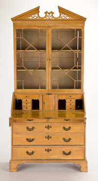 From the Estate of Henry Hathaway, Film Director, Beverly Hills, California  GEORGE III STYLE MAHOGANY SLANT