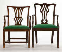 From the Estate of Henry Hathaway, Film Director, Beverly Hills, California  TWO GEORGE III STYLE MAHOGANY A