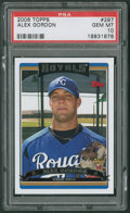 Baseball Cards:Singles (1970-Now), 2006 Topps Alex Gordon #297 PSA Gem MT 10 - The Card That Shouldn'tBe! ...