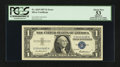 Error Notes:Mismatched Serial Numbers, Fr. 1619 $1 1957 Silver Certificate. PCGS Apparent About New 53.. ...
