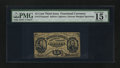 Fractional Currency:Third Issue, Fr. 1274SP 15¢ Third Issue Narrow Margin Face PMG Choice Fine 15 Net.. ...