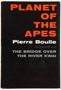 Books:First Editions, Pierre Boulle. Planet of the Apes. New York: Vanguard Press,[1963]. First American edition, first edition in Englis...