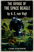 Books:Science Fiction & Fantasy, A. E. van Vogt. The Voyage of the Space Beagle. New York:Simon and Schuster, 1950. Review copy of the first edition...
