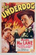 Memorabilia:Poster, The Underdog Movie Poster (PRC, 1943)....