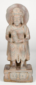 Antiquities:Indo-Greek, Antiquities: INDO-GREEK. Gandharan figure of Bodhisattva, ca.2nd-3rd century AD....