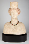 Antiquities:Greek, Antiquities: GREEK SOUTHERN ITALY OR SICILY. Terracottashoulder-length bust of Demeter. Ca. 450 BC. ...