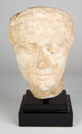 Antiquities:Roman, Antiquities: ROMAN. Marble head of a woman, possibly an Empress,ca. 2nd century AD. ... (Total: 2 items)